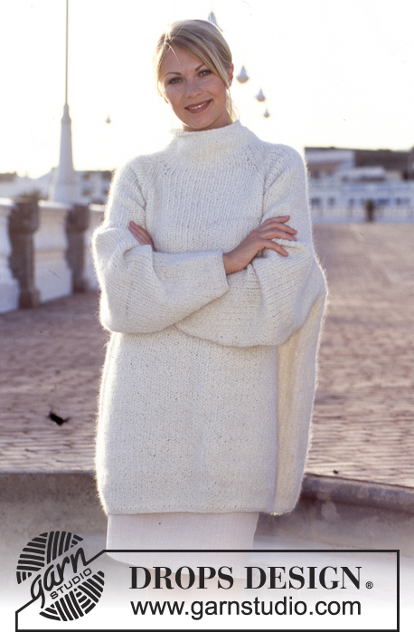 Knitting Patterns Fisherman s Rib Sweater : DROPS 60-21 - DROPS over-sized Sweater in Fisherman s rib ...