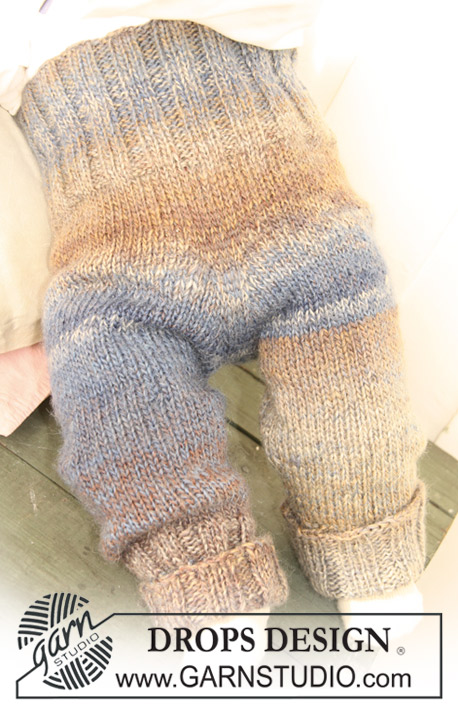 Free Drops Knitting Patterns : DROPS Baby 20-7 - Knitted DROPS pants in 2 threads