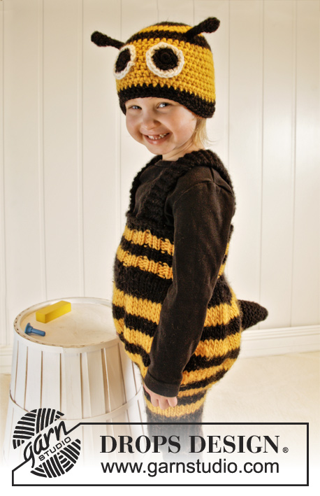 Bee Happy Drops Extra 0 1013 Free Knitting Patterns By Drops Design