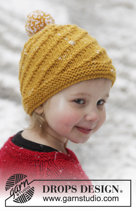 Swirl N Twirl   DROPS Extra 0-1020 - Knitted DROPS hat with spiral pattern  ... ad7a1c642aa
