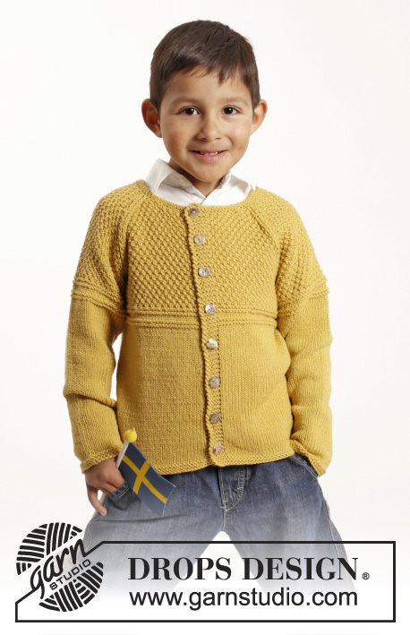 Clever Clark Cardigan / DROPS Extra 0-1143 - Free knitting patterns by DROPS Design
