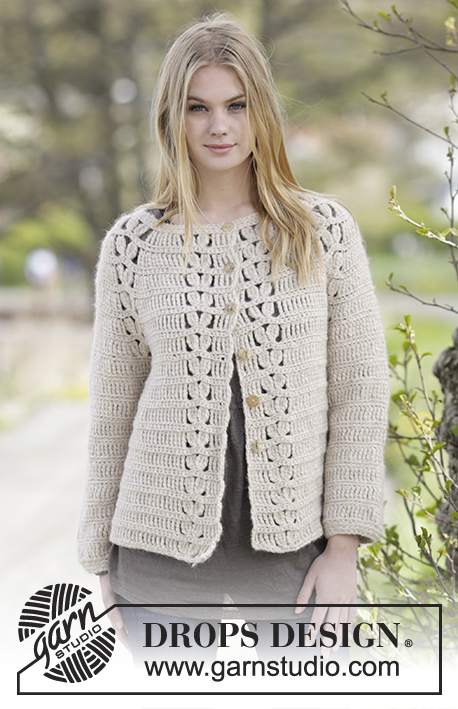 Priscilla Cardigan / DROPS Extra 0-1182 - Free crochet patterns by ...