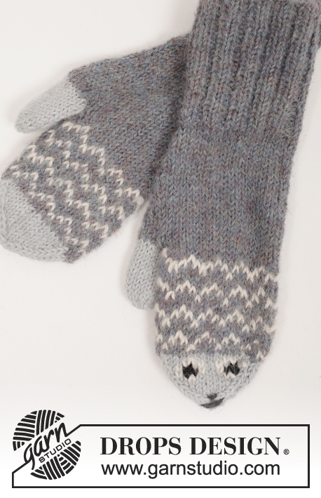 Knitting Pattern For Fish Mittens : Mr. Fish / DROPS Extra 0-1216 - Free knitting patterns by ...