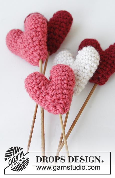Little Hearts / DROPS Extra 0-1222 - Kostenlose Häkelanleitungen von ...
