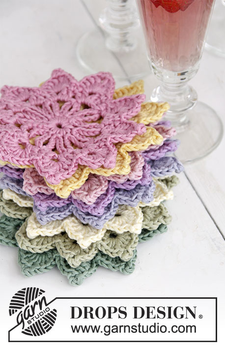 Crochet Patterns Free Drops : Floral Toast / DROPS Extra 0-1305 - Free crochet pattern ...