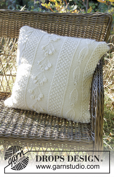 Snow Beads Pillow Drops Extra 0 1315 Free Knitting Patterns By