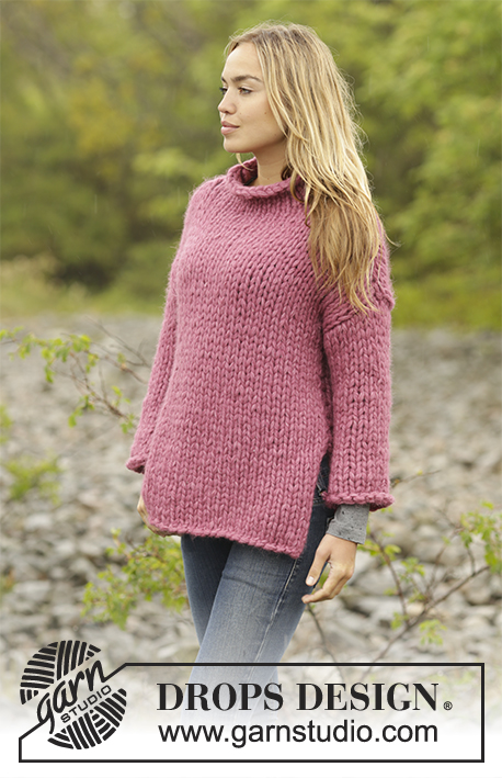 Sunset Rose Drops Extra 0 1356 Free Knitting Patterns By Drops