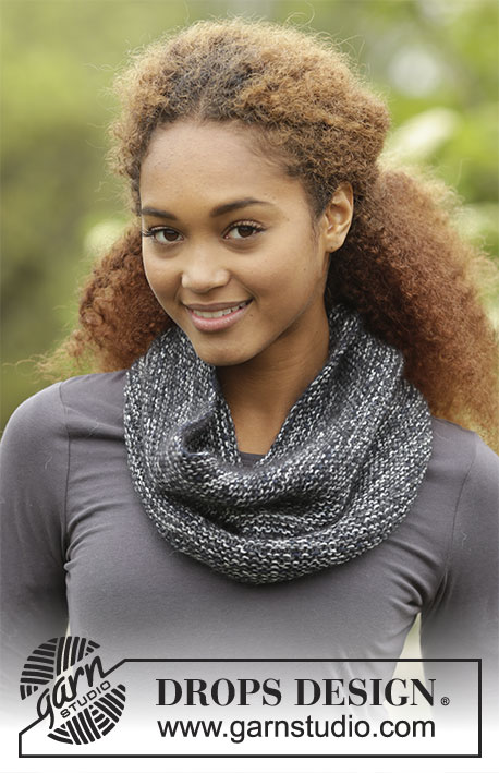 Silje Cowl / DROPS Extra 0-1368 - Knitted neck warmer in garter stitch in DROPS Fabel and DROPS Kid-Silk.