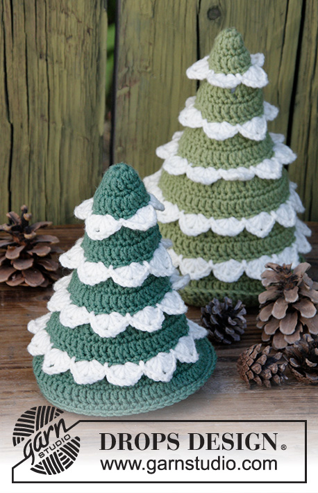 the christmas forest drops extra 0 1398 crocheted christmas trees the piece
