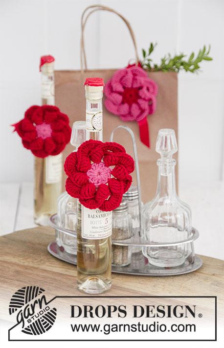 Festive Flowers / DROPS Extra 0-1407 - Kostenlose Häkelanleitungen ...