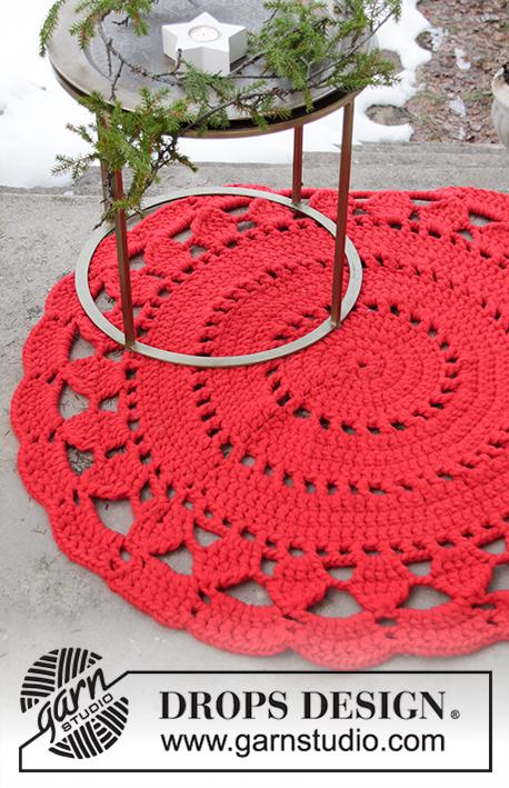 Christmas Carpet Drops Extra 0 1435 Gratis Haakpatronen Van