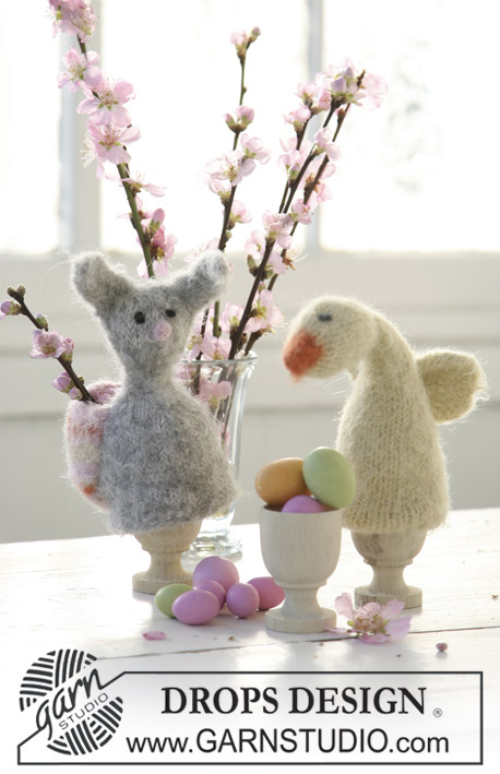 DROPS Extra 0-501 - Felted DROPS Easter chicken and Easter bunny in 2 threads Alpaca.