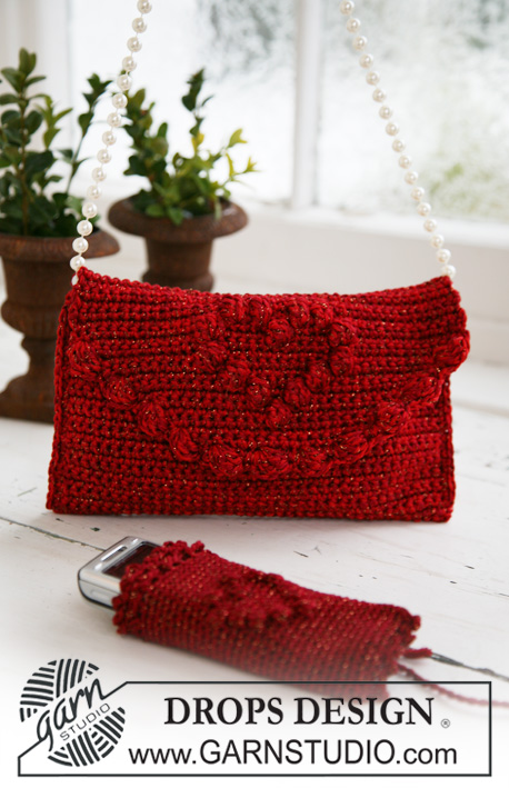 Crochet Bag With Pockets Pattern : DROPS Extra 0-574 - Crochet DROPS bag and cellphone pocket ...