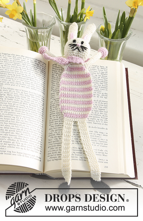 Bella, the Book Bunny / DROPS Extra 0-633 - Patrones de ganchillo ...