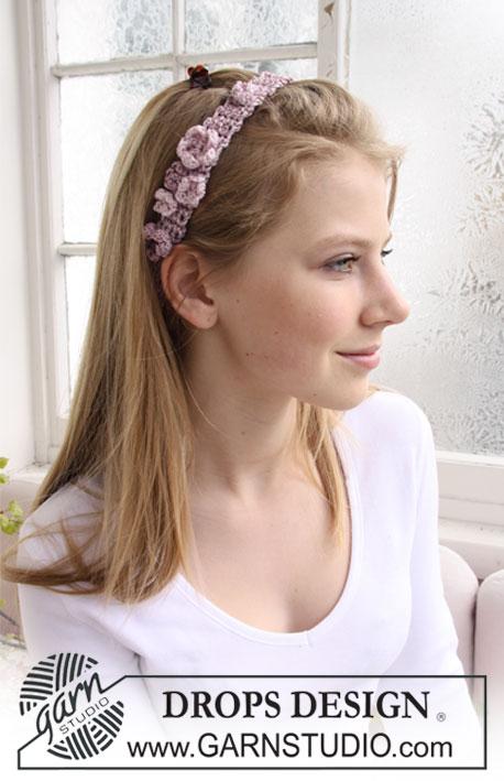 hårbånd med blomster