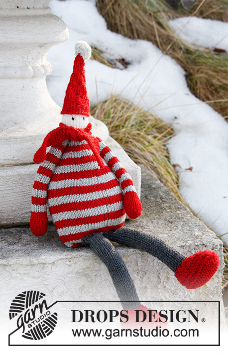 Elf On The Shelf Jumper Knitting Pattern : Julius / DROPS Extra 0-861 - Pere No?l DROPS tricote en