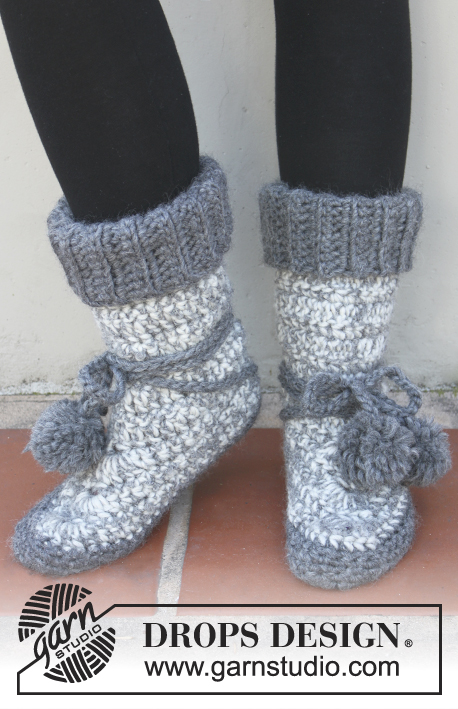 Lucky Wanderer DROPS Extra 4040 Free Crochet Patterns By DROPS Cool Crochet Boot Pattern