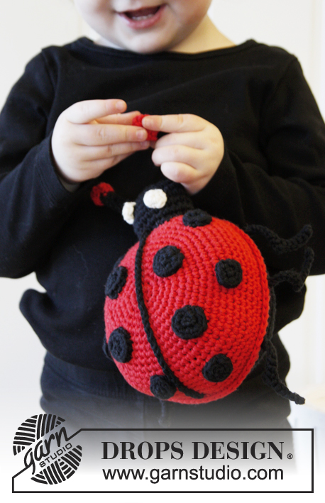 Francis / DROPS Extra 0-890 - Crochet DROPS lady bug in Cotton Light.