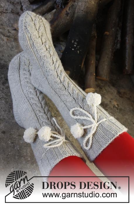 Вязаные носки от DROPS с