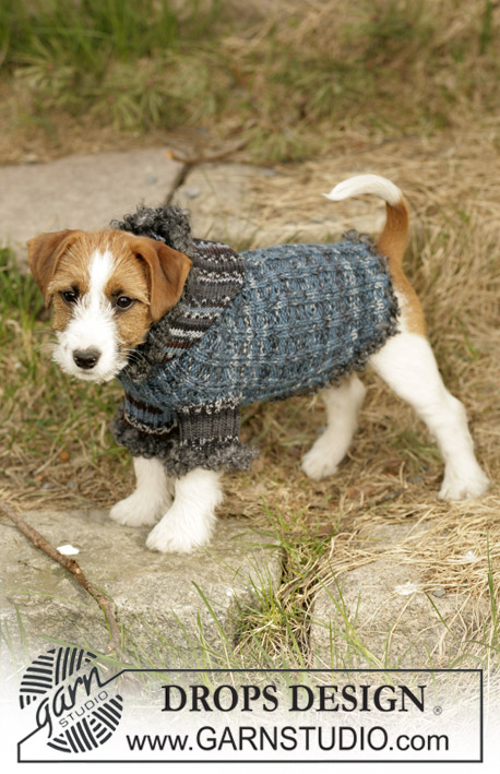 Free Patterns For Dog Coats To Knit : Tweedle Dee / DROPS 102-41 - Free knitting patterns by DROPS Design