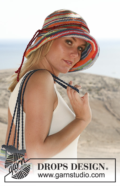 DROPS 107-36 - Crochet DROPS hat in Muskat Soft and Muskat.