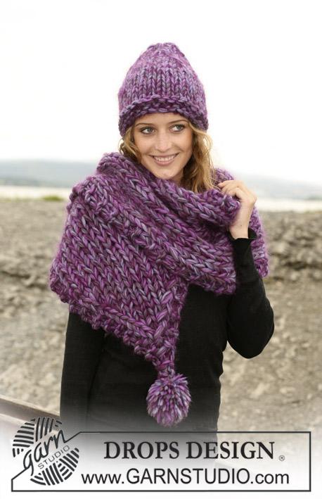 Purple Kiss / DROPS 109-55 - Free knitting patterns by DROPS Design