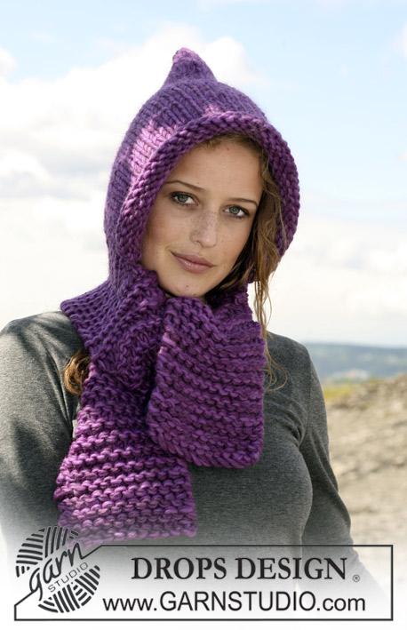 Réalisation d'une écharpe à capuche au crochet Le coin bricolage de