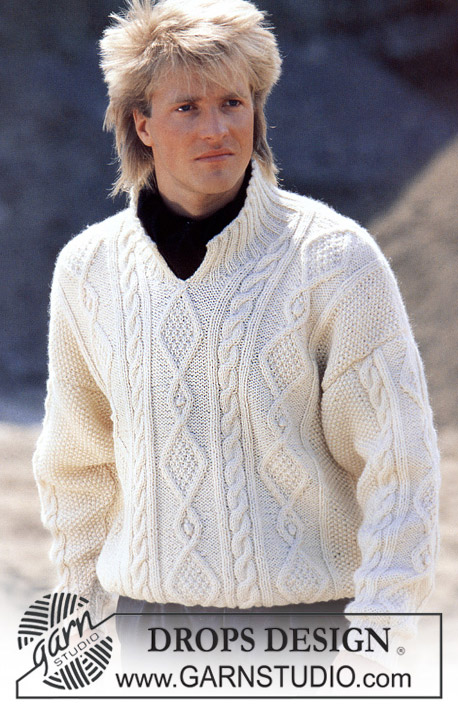 "DROPS 11-11 - DROPS Aran jumper with front opening in ""Alaska"". Ladies and Men 's size S – L."