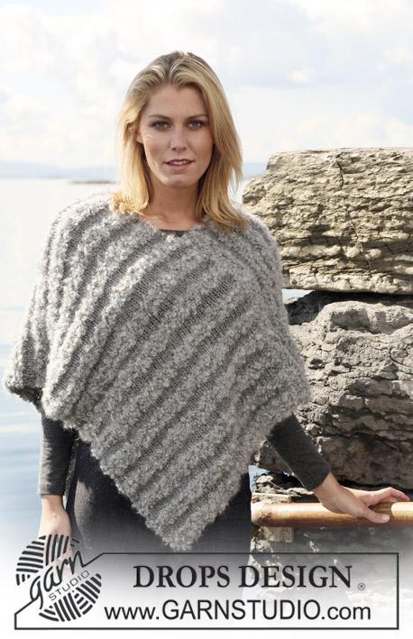 Drops 110 15 mod les tricot gratuits de drops design - Explication pour tricoter un poncho femme ...