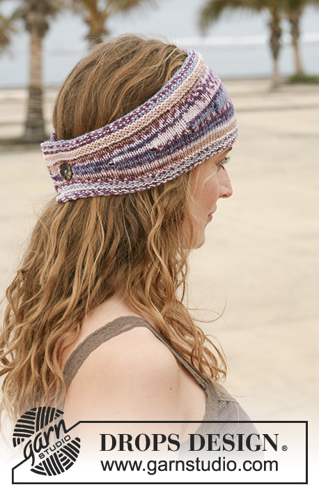 "Berry Trails Headband / DROPS 112-41 - DROPS pannebånd i ""Fabel""."