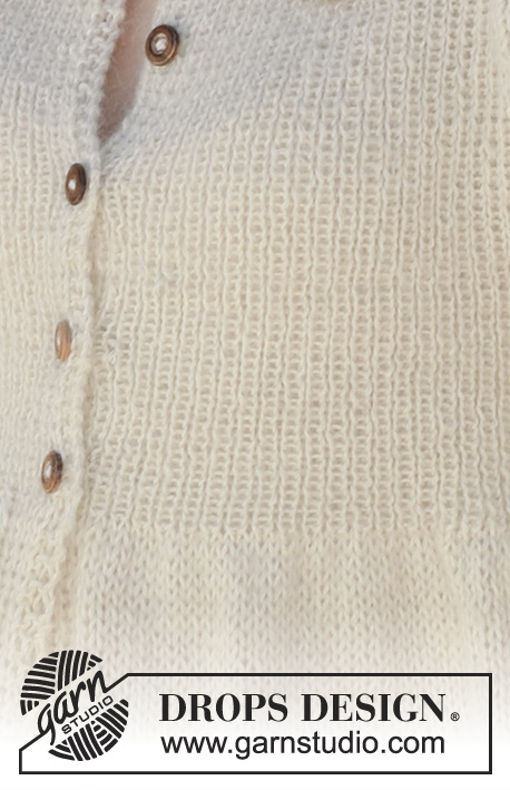 Imprimé tricot instructions-baby garter stitch col sweater knitting pattern