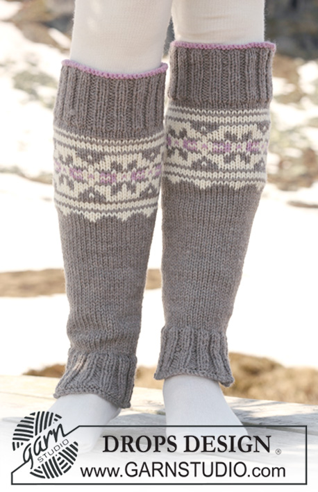 Highland Dew Leg Warmers / DROPS 116-35 - Free knitting patterns by ...