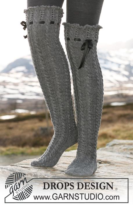 lange strikkede strømper