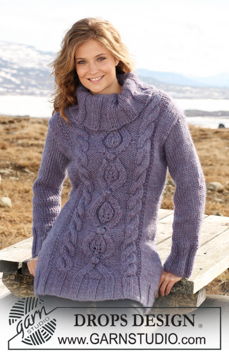 Alaska Cables / DROPS 117-18 - Free knitting patterns by DROPS Design