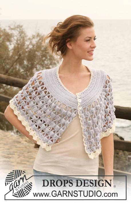 Garnstudio Free Crochet Patterns : Free pattern: DROPS Crochet corset top in ?Safran ...