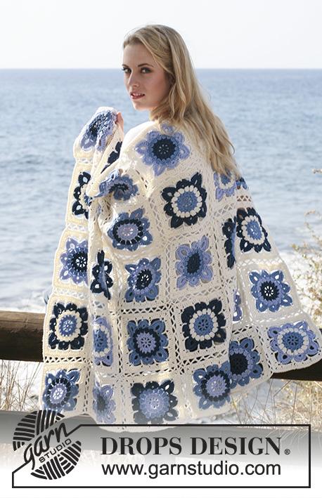Crochet Patterns Free Drops : Seaside Blues / DROPS 120-3 - DROPS blanket crochet in ...