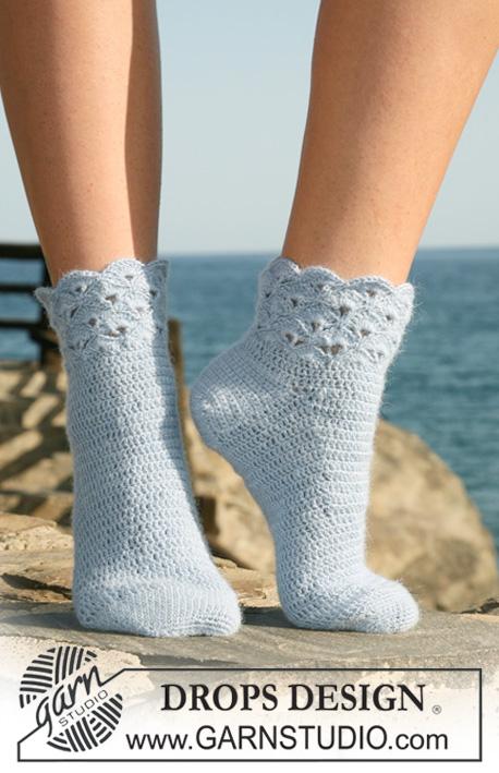 Seaside Socks Drops 120 36 Free Crochet Patterns By Drops Design