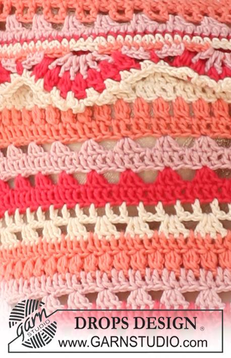 Crochet Patterns Free Drops : Summer Sorbet / DROPS 120-38 - Crochet DROPS hat and top ...