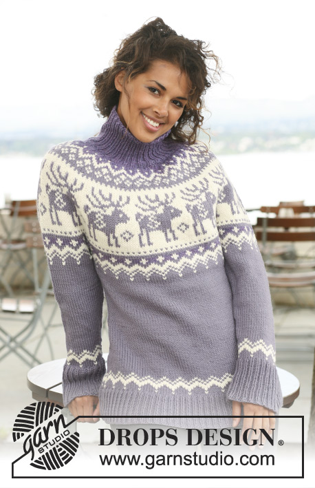 Reindeer Swing Drops 122 43 Free Knitting Patterns By Drops Design