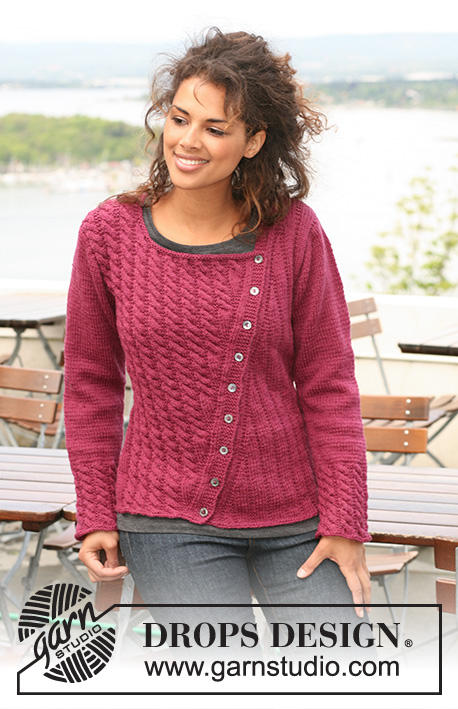 Cherry With A Twist Drops 126 6 Free Knitting Patterns By Drops