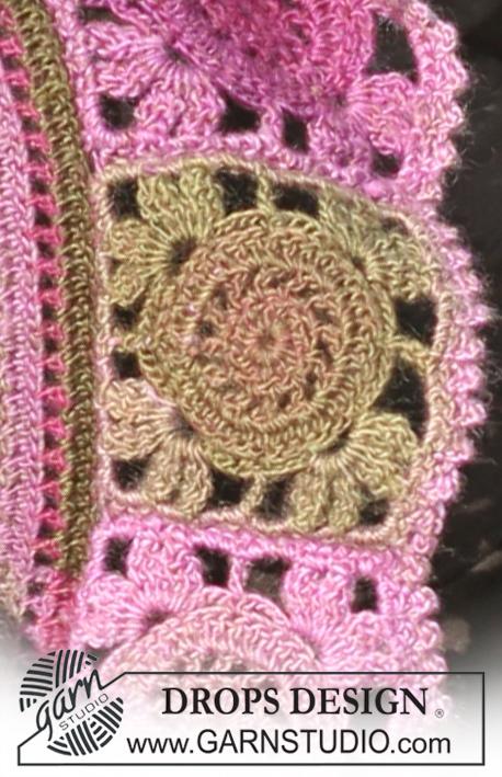 Crochet Patterns Free Drops : Rose Parade / DROPS 126-8 - Crochet DROPS bolero in ...
