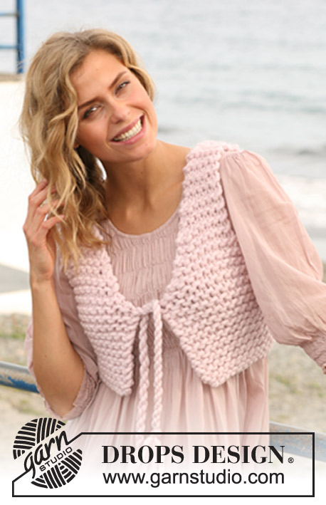 Easy Gilet Knitting Pattern : Roxy Says / DROPS 127-14 - Free knitting patterns by DROPS Design