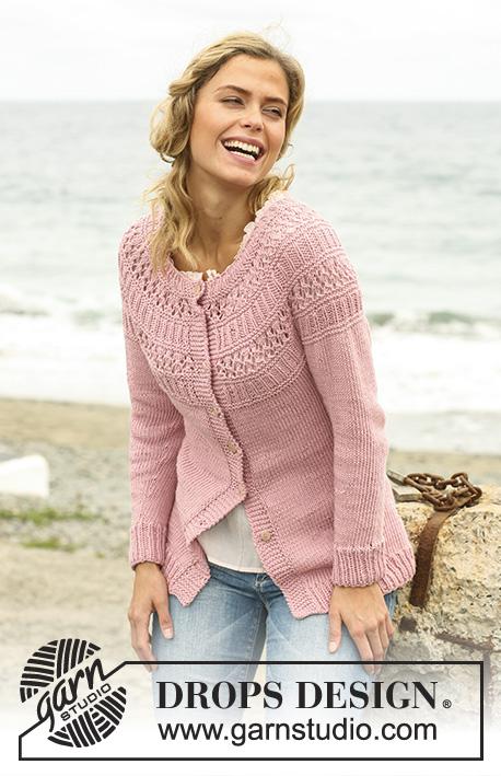 6ff5f5aa16e41d Hortensia Cardigan   DROPS 127-16 - Free knitting patterns by DROPS Design