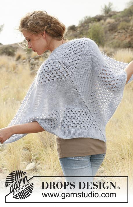 promotion spéciale grande vente acheter en ligne Trellis Shawl / DROPS 129-37 - Modèles tricot gratuits de ...