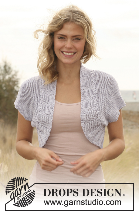 Spring Flutter / DROPS 130-13 - Knitted DROPS bolero in Paris. 