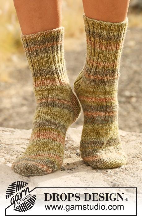 strikkeopskrift sokker børn
