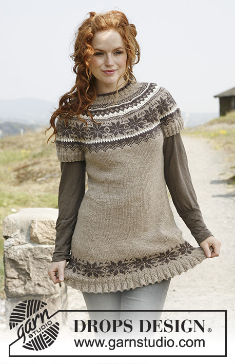 Autumn Flurries / DROPS 133-15 - Free knitting patterns by DROPS ...