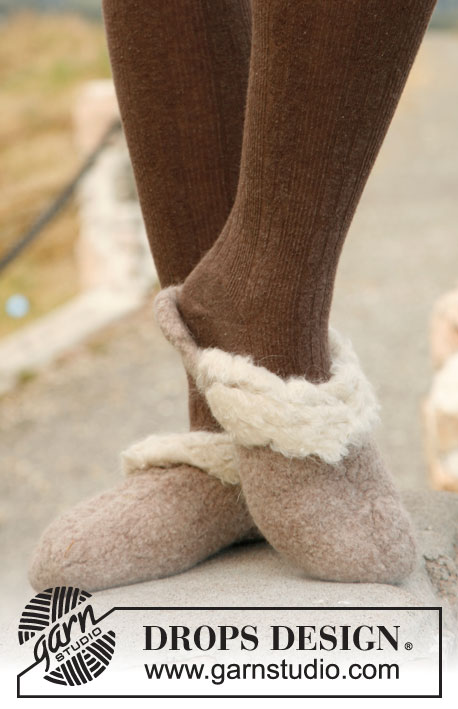 Felted Fluff / DROPS 134-37 - Free knitting patterns by DROPS Design