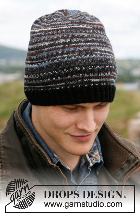 Harry / DROPS 135-15 - Knitted hat for men in DROPS Fabel.