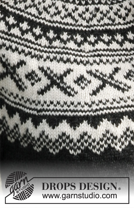 Susan / DROPS 135-5 - Knitted jumper with round yoke and Nordic pattern in DROPS Karisma. Size: S to XXXL.